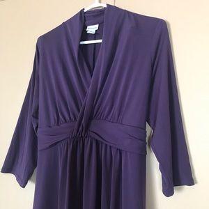 MOTHERHOOD MATERNITY Dark Purple Long Sleeve Dress